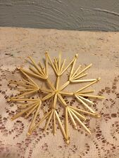 Straw Snowflake Ornament 8 Point Star Woven New Christmas Wheat Weaving ourS7