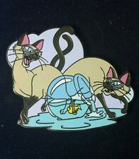 Si and Am Siamese Cats UK Disney Pin LE 300 Lady and Tramp OC