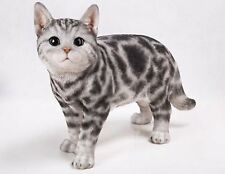 New American Shorthair Cat Figurine - Life Like Figurine Statue Home / Garden