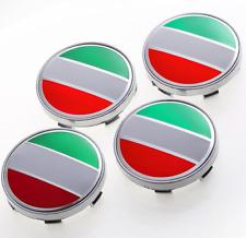 4X 60mm Italian Italy Flag Alloy Emblem Wheel Center Rim Hub Cap For BMW Fiat VW