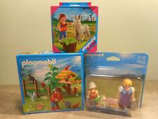 Lot de 3 réf. Playmobil Thème ferme - 4203 4740 5514 - Personnages Animaux Neuf