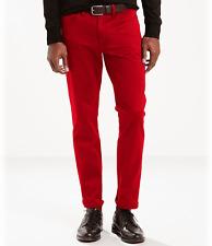 NWT Men's Levi's 541 Athletic Taper Red Rigid Stretch Twill Denim Jeans ALL SIZE