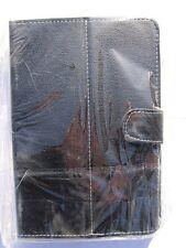 Black multi angle cuir sacoche socle pour Storex ezee' tab 1001 Tablet PC