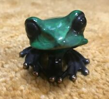 GREEN TAD BY FROGMAN - TIM COTTERILL - SOLID BRONZE FROG STATUE 715/2000 Mint