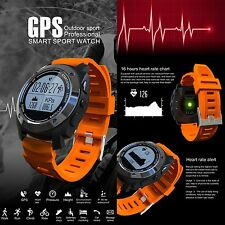 Sports GPS Bluetooth Smart Watch Pedometer Temperature Bracelet For IOS Samsung