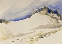 Alfred Behle 1935-97 Expressives Aquarell Düne auf Sylt #2 Ohm Schüler HH