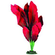 Aqua One Silk Plant Red Amazon Sword 40cm Plastic Aquarium Fish Tank Plants XL