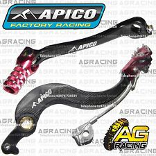 Apico Black Red Rear Brake & Gear Pedal Lever For Honda CRF 450X 2007 Motocross
