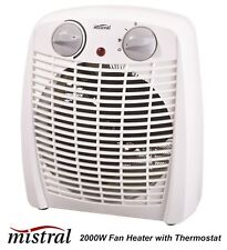 2000W Upright Electric Fan Heater with 2 Heat Settings & Thermostat