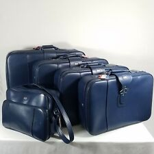 American Tourister 5 Piece Luggage Set Blue Vintage Soft Side Suitcase Tote Bag