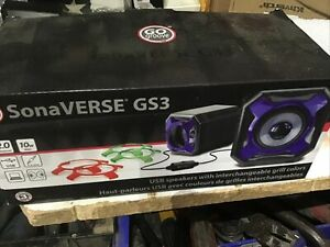 GOgroove SonaVERSE GS3 USB Computer Speakers with Interchangeable Grills