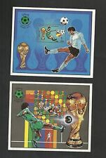 1982 – Libya- 1982 Football World Cup FIFA – Spain-  Soccer- 2 Minisheets MNH**