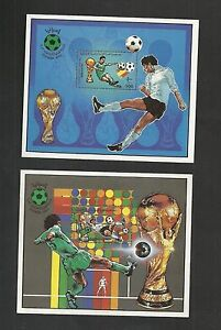 1982 – Libya- 1982 Football World Cup FIFA – Spain-  Soccer- 2 Minisheets MNH**