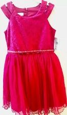 Bonnie Jean Big Girls Red Lace Christmas Dress 16