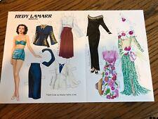 Hedy Lamarr paper doll by Marilyn Henry