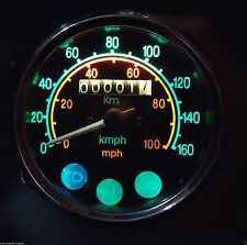 Royal Enfield Speedometer  MPH / KPH  - fitment size 80 mm  , M 18 X 1.5 Thread