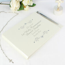 -:- First Holy Communion -:- PERSONALISED Guest Message Book & Pen
