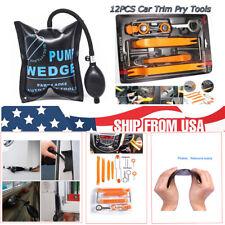 12pcs Car Clip Panel Trim Dash Radio Audio Removal Pry+Air Pump Wedge Tools Kit