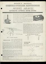 Rare Original Factory Cde Ar 10 Xl Antenna Rotor System Owner's Manual Cb Ham Tv