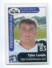 TYLER LENDA 1998 Big 33 Pennsylvania PA High School card PENN STATE Guard OL