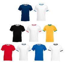 Fruit of the Loom Camiseta Ringer Hombre Contraste Camiseta