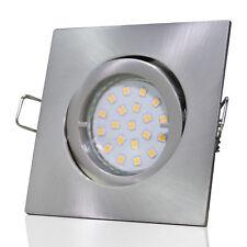 Gu10 SMD LED Einbauspot Square / Rostfrei / Verbrauch nur 3W / Quadratisch / Alu