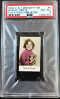 1935 C. & T. Bridgewater Film Stars-4th Series #6 SHIRLEY TEMPLE PSA 8 NM-MT