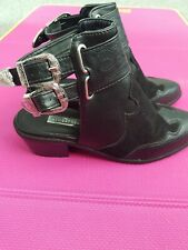 Cowboy Boots With Sling Back Buckles Black And Silver. Primark Atmosphere Size 5