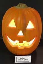 "VINTAGE 12"" HALLOWEEN FOAM Mold Jack O Lantern Light Pumpkin GEMMY  JOL *RARE*"