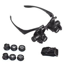 ABS comfortable Watch Repair Magnifier Loupe Glasses With LED Light 8 Lens