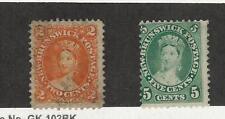 New Brunswick, Postage Stamp, #7 Used, 8 Mint Hinged, 1860-63