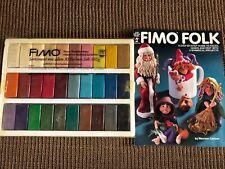 Vintage EBERHARD FABER FIMO Modeling Clay 30 Colors NEW**Bonus Book FIMO FOLK