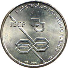 """Portugal - 1000 Escudos 1997 """" Credito Publico """" Large Silver Coin - KM#703"""