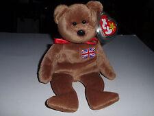 """Beanie Babies """"Britannia"""" Dec. 15 1997, Retired, Sewn British Flag, New!"""