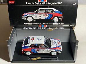 Lancia Delta Integrale 16v, Kankkunen RAC Rally 1991 1/18 Sun Star signed plaque
