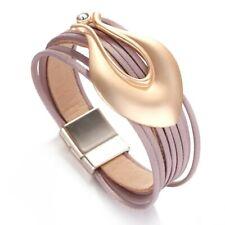bracelet femme & cuir rose mode cristal