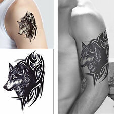 Sexy Temporary Waterproof Large Wolf Head Removable Tattoo Body Arm Leg Sticker