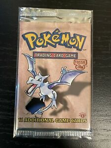Pokemon WOTC 1st Edition Fossil Booster Pack Unweighed/Mint! Aerodactyl Artwork!