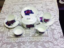 BLUE ANEMONE Wedgwood Susie Cooper ~ Tea Set ~ 10 Pieces