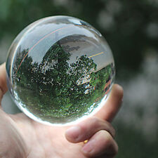 Clear Glass Crystal Ball Healing Sphere 80Mm Photo Decoration Photography Prop