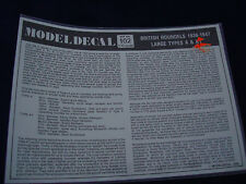 BRITISH ROUNDELS 1938-1947 LARGE TYPES A A1 NO. 102 MODELDECAL DECALS 1:72