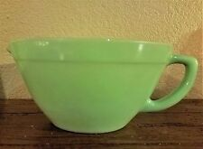 VINTAGE FIRE KING JADITE JADEITE BATTER BOWL HANDLE MIXING BOWL WITH SPOUT
