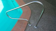 Swimming Pool Hand Rail Step Grab HRA04C  BULLNOSE 1 metre Stainless Steel