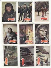 LOT OF 25 DIFFERENT 1976 TOPPS PLANET OF THE APES TV SERIES CARDS