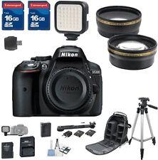 Nikon D5300 DX Digital SLR Camera (Body Only) + 2pc 16GB Memory Cards + Bundle