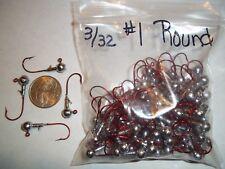 3/32oz #1 ROUND HEAD LEAD HEAD JIG EAGLE CLAW - RED 100ct