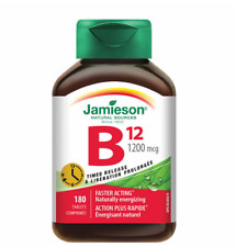 Jamieson Vitamin B12 1200 mcg Natural Sources 180 Tablets Timed Release Energy