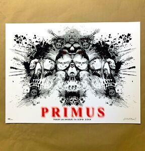 EMEK PRIMUS Los Angeles Concert Poster LA Forum 2019 #/400 art print the skulls