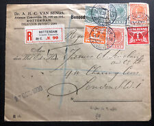 1930 Rotterdam Netherlands Commercial Registered Cover To London England