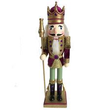 Christmas Nutcracker Figure King Beautiful Maroon Velvet Jacket N1510-A